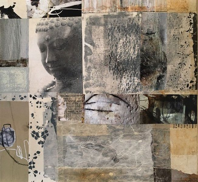 Imago 50.0., Collage a. LW, 45x45cm