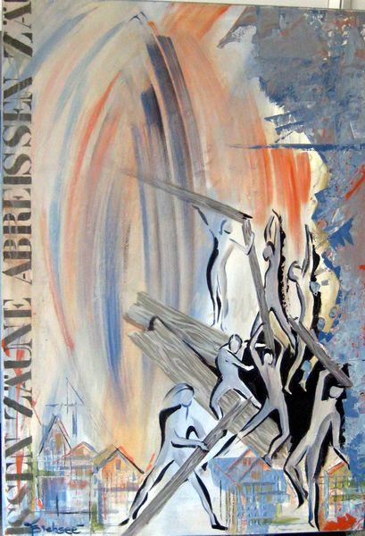 Grenzenlos 1, Acryl a. LW, 100x70cm
