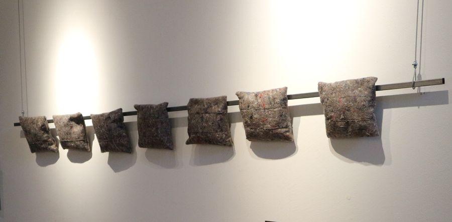 Sieben, Materialmix, 200x24 cm
