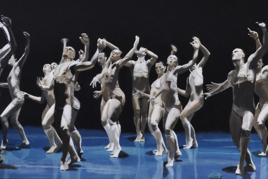 Tänzer, Acryl a. LW, 120x100cm
