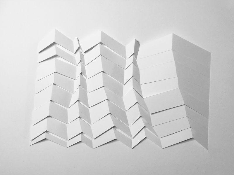 o.T. Nr 4, Papercut, 40x30cm